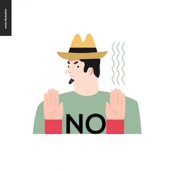Отказ человека в шляпе