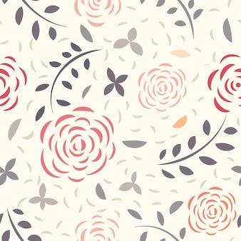 Векторный цветочный бесшовный узор из цветов