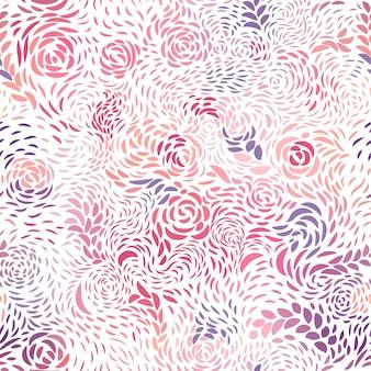 花びらと紫のシームレスパターン