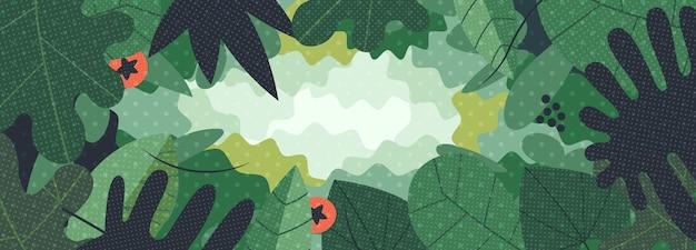 葉の緑のウェブ野菜の背景