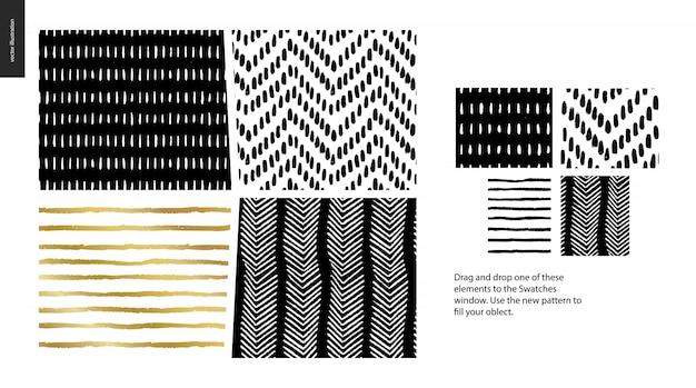 手描きのパターン - 作品
