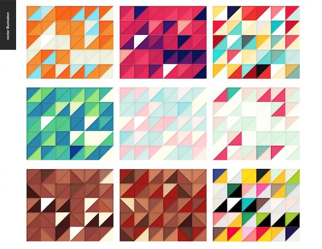 シームレスな幾何学的なペーパーカットパターン