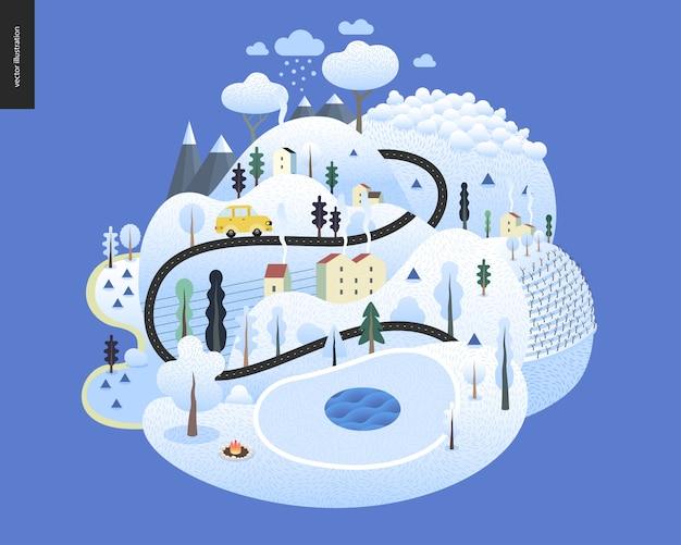 魔法の冬景色