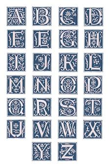 レトロなスタイルのアルファベット。