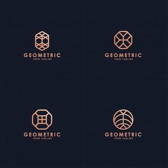 Коллекция геометрических логотипов.