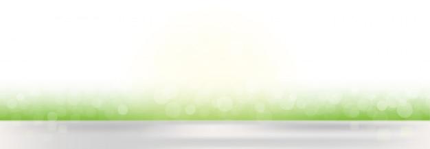 ぼやけたライトと抽象的なベクトル春デフォーカスバナーの背景