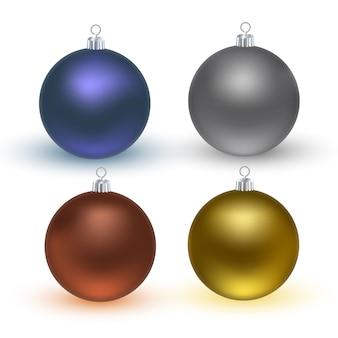 カラフルなクリスマスボール。