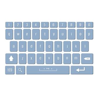 スマートフォンのキーボード