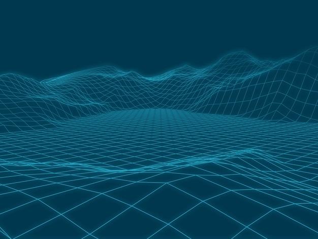Абстрактный векторный пейзаж фона.