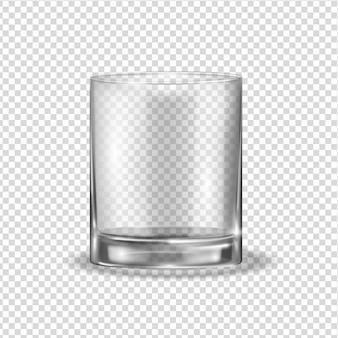 透明な光沢のあるガラス