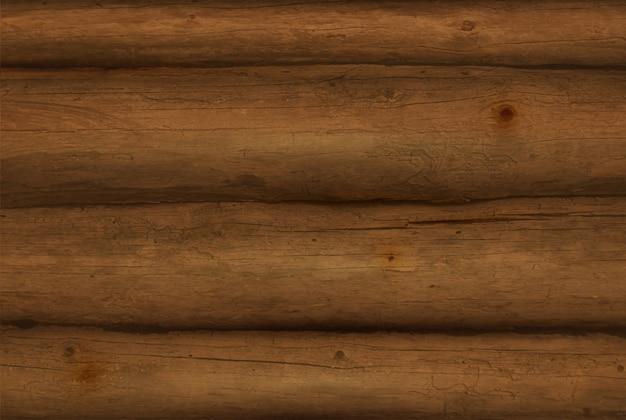 Реалистичные коричневые деревянные бревна