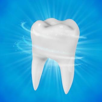 Белый зуб человека