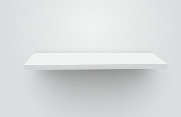 Белая реалистичная пустая полка