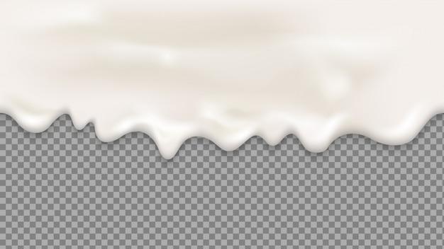 滴り落ちるホワイトクリームシームレス
