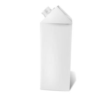 Пустая белая реалистичная упаковка сока