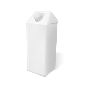 Пустая белая реалистичная упаковка молока