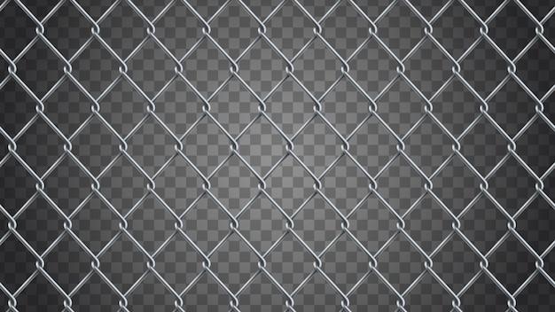 シームレスなリアルなチェーンリンクフェンスの背景。
