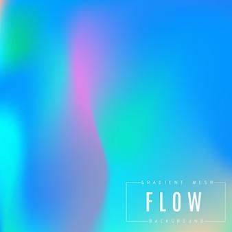 抽象的な色とりどりの明るいグラデーションメッシュのベクトルの背景。