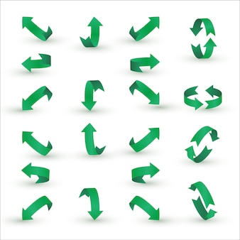 Зеленая лента стрелка набор.
