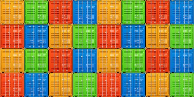 Штабелированные грузовые контейнеры