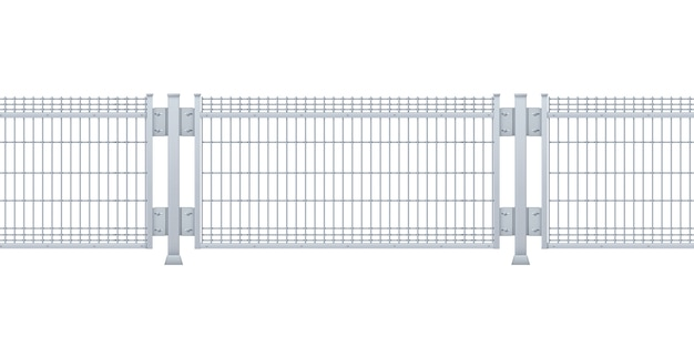 Бесшовные металлический забор.