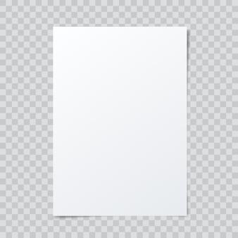 Вектор чистый лист бумаги на абстрактный клетчатый