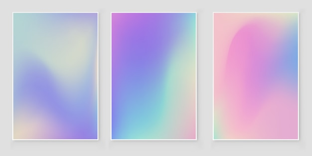 ホログラフィック箔グラデーション虹色カバー抽象的なカバーセット