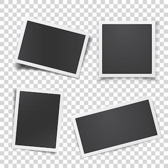 分離されたレトロな写真セット