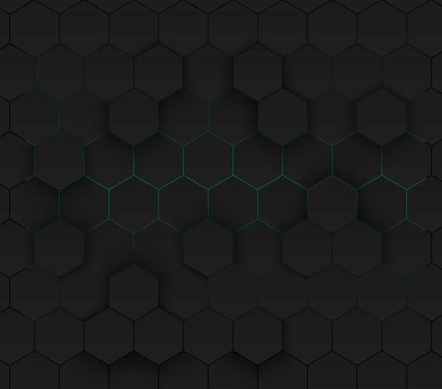 緑のモダンな未来的なネオンの背景