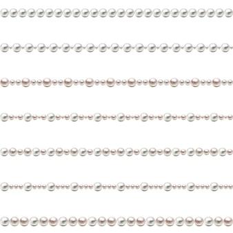 Бесшовные жемчужные бусы. набор жемчужных бусин. вектор.