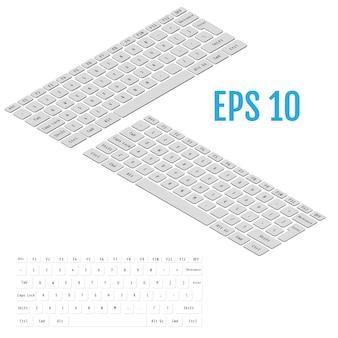 Реалистичная изометрия современной клавиатуры