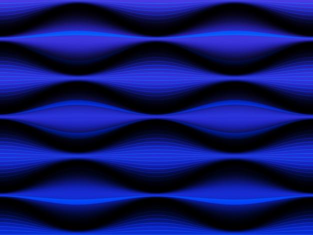 Горизонтальный синий абстрактный фон современной технологии.