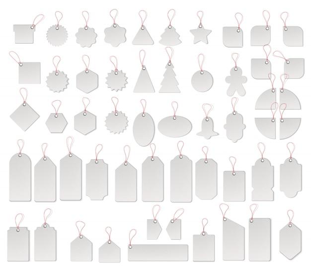 Цена или продажа теги и этикетки векторный набор шаблонов