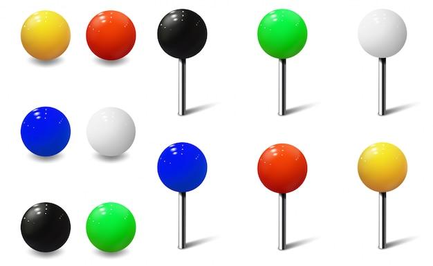 Круглые штыри и металлические кнопки