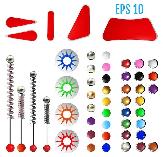 現実的な色のピンボール要素