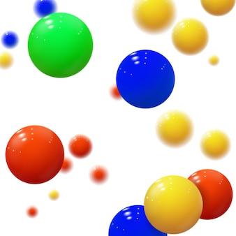 柔らかい球。プラスチックの泡。光沢のあるボール