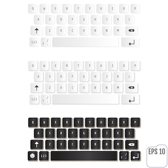 現代のリアルなキーボード