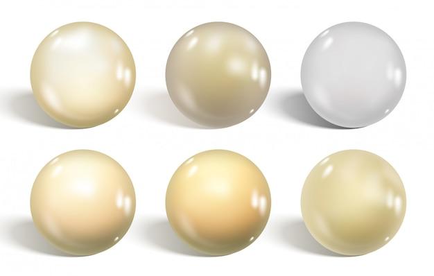 白い光沢のある球