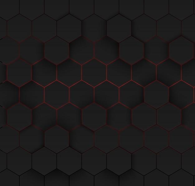 抽象的な六角形の背景。