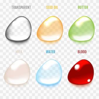 透明のセットは、グレー色に低下します。