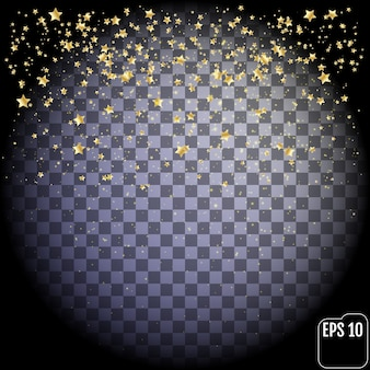 Золотая звезда, изолированные на прозрачном фоне.