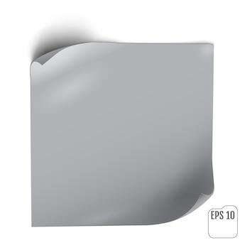 影付きの紙ステッカー