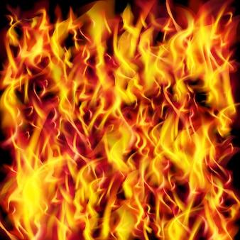 火炎テクスチャのベクトルの背景