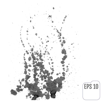 インク飛沫からのたき火。ベクトルイラスト