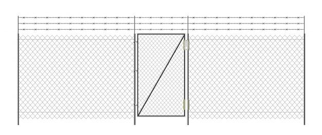 Реалистичные металлические звенья забор.