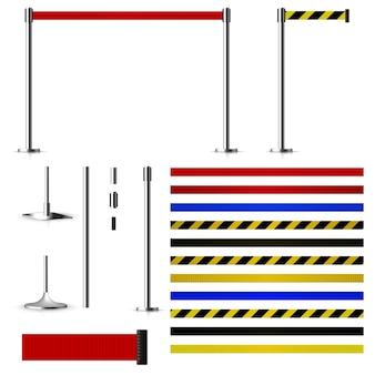 Набор для создания металлических барьеров с ремнями