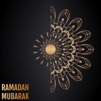 イスラムのベクトルの背景。ラマダンムバラク。