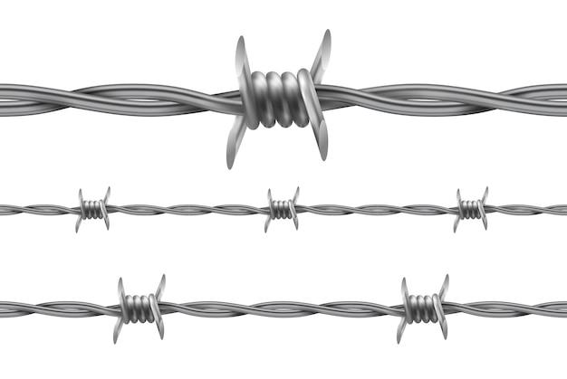 有刺鉄線。繰り返しのシームレスパターン