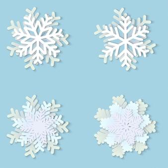 クリスマス紙雪の結晶