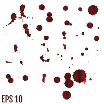 Кровавое пятно, красные капли, брызги нарисованного искусства